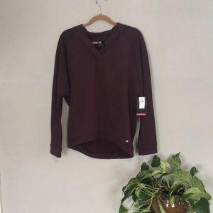 Sark plum gap fit sweater-sweatshirt size medium